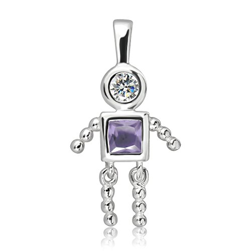 WithLoveSilver Sterling Silver 925 Charm Baby Boy Birthstone Alexandrite June Pendant
