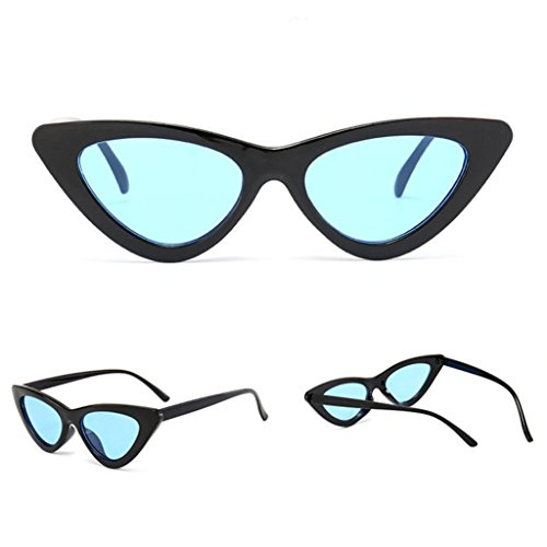 Dressffe 2018 Fashion Women Fashion Cat Eye Shades Sunglasses Integrated UV Candy Colored Glasses - Candy Colored Lenses