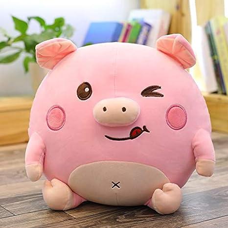 Amazon.com: ILUTOY - Peluche de cerdo redondo para niños y ...
