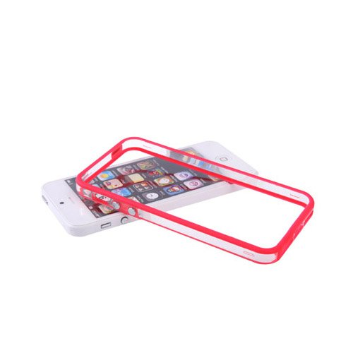 Apple iPhone 5 / 5s Caso Elegante - Azul Silicona TPU Gel Bumper Funda Case Sleeve Skin Para Apple iPhone 5 5s - thinkmobile rojo