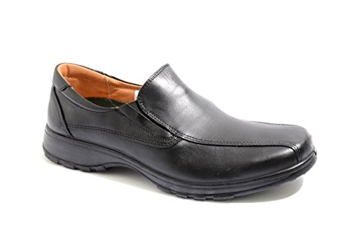 Mens DB easy B NELSON Loafers shoes in EE (extra wide) Fitting Black