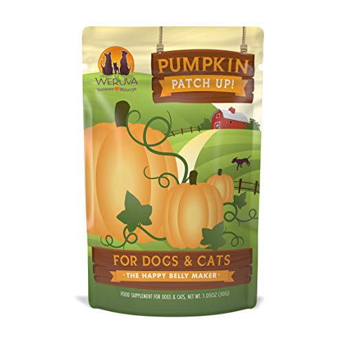 Weruva Pumpkin Patch Up!, Pumpkin Puree Pet Food Supplement For Dogs & Cats, 1.05Oz Pouch (Pack Of 12) -