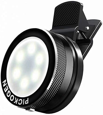 External LED Creative Lightning Kit Universal Clip-On Mini LED Light Selfie Portable Pocket Spotlight Clip Premium Aluminum Alloy Plated for Photo and Video