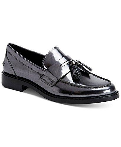 Coach Chaussures Bateau pour Femme/US Frauen Mirror Metallic Gunmetal VXtrN