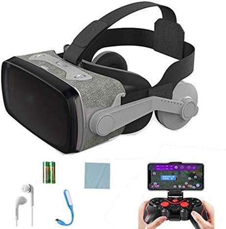 バーチャルリアリティのメガネ3D,オールインワンバーチャルスマートメガネヘッドマウント調節可能なボタン様々な3D映画やビデオ、ゲーム。,Gray,C