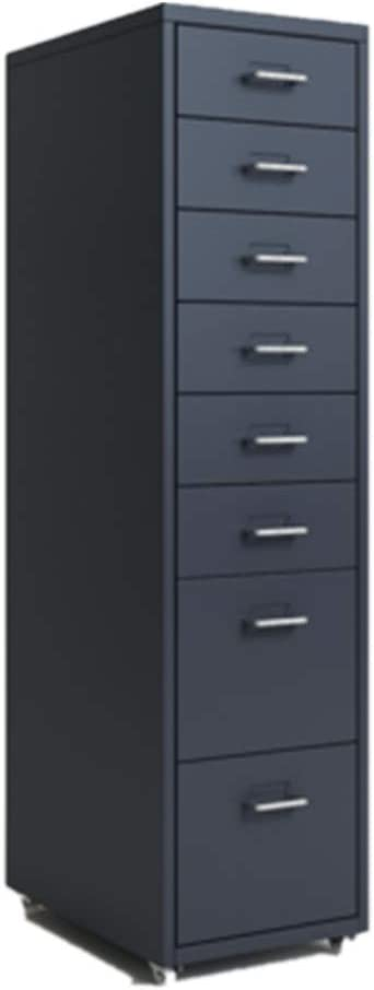 ファイルキャビネッ 8つの引き出しスチール単位A4サイズ用にアセンブルするために内閣ストレージホームオフィスファイリングの必要性 オフィスのデスクトップに適しています (Color : Gray, Size : 28x41x108cm)