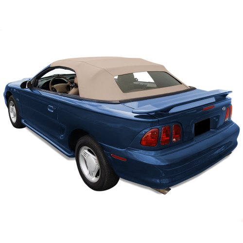 Sierra Auto Tops Convertible Top Fits 1994-04 Ford Mustang (all models) with Heated Glass Window in Sailcloth Vinyl Parchment ()