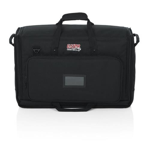 Gator G-LCD-TOTE-SMX2 Padded Dual Carry Tote Bag for Transporting (2) LCD Monitors & TVs, Dual 19'' - 24'' Screens by Gator