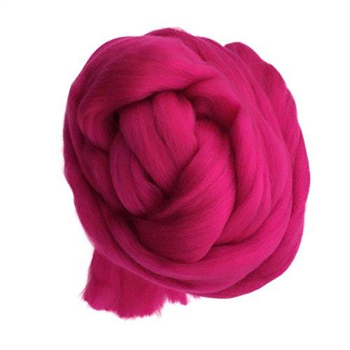 Hand Yarn,vmree 50~60mm 14M Super Soft Bulky Arm Knit Wool Roving Crocheting Yarn DIY for Arm Hand Knitting (F) by vmree