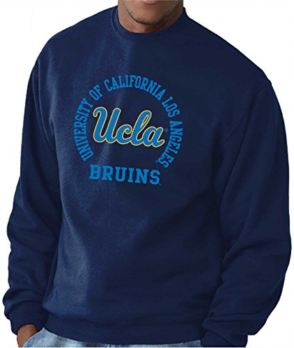 Campus Colors UCLA Bruins Adult NCAA Team Spirit Crewneck Sweatshirt - Navy, Small ()