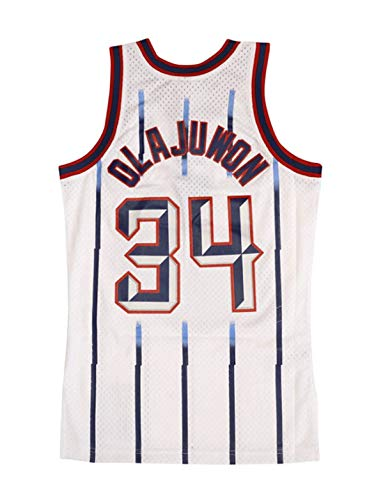Hakeem Olajuwon Houston Rockets Mitchell and Ness Men's White Throwback Jersey (3X-Large)