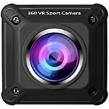 LESHP Wireless 360 Degree Panoramic Camera, 960P HD WiFi Digital Sports Action Cam with Dual-lens 220 Degree Fish Eyes Wide Angle Lens and Mounting Accessories Kits for Outdoor Extreme Sports