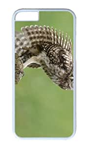 Little owl wing feathers tree stump PC White Hard Case for Apple iPhone 6(4.7 inch)