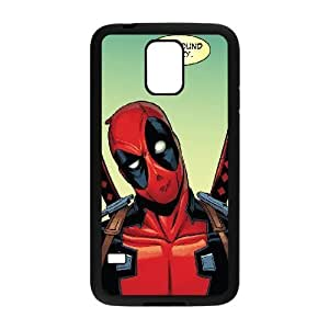 Bloomingbluerose You Know When Deadpool Says You're Crazy YOURE CRAZY Samsung Galaxy S5 Cases, Mens Designer Cell Phone Case for Samsung Galaxy S5 Mini {Black}