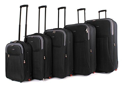 Top Lite – Juego de maletas  Hombre unisex adulto Mujer negro Luggage set