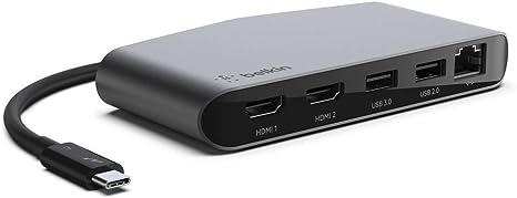 Mini Thunderbolt 3 Dock-MacBook Pro /& Windows-Dual 4K 60Hz DisplayPort