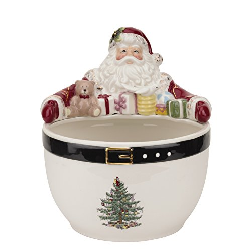 (Spode Christmas Tree Santa Nut Bowl, Multicolor)