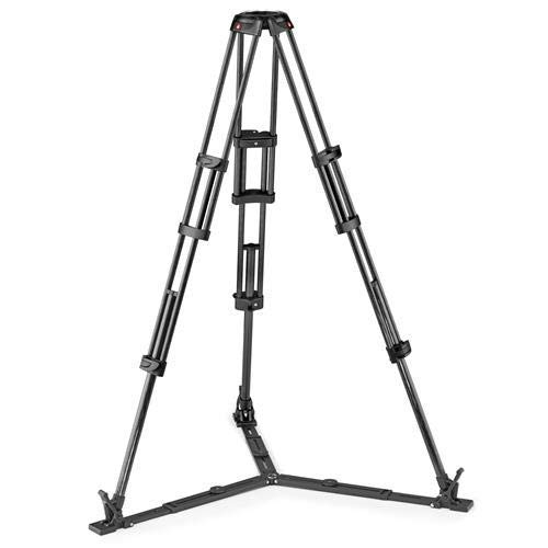 Manfrotto Carbon Fiber Twin Leg Video Tripod with Ground Spreader, 100/75mm Bowl ()