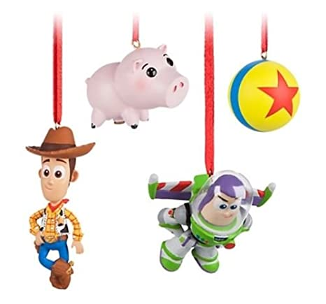 Toy Story Christmas Ornaments.Amazon Com Disney Sketchbook Toy Story 4 Piece Ornament
