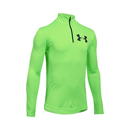 Under Armour Boys Tech Textured 1/4 Zip Sweatshirts, Quirky Lime/Anthracite, Youth (Youth Quarter Zip Pullover)