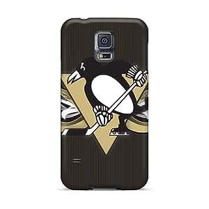 Samsung Galaxy S5 BQO49PSMd Custom HD Pittsburgh Penguins Skin High Quality Hard Phone Cover -customcases88