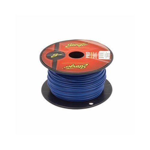 50 Foot Section of Stinger 18 Gauge Blue Primary Remote Wire