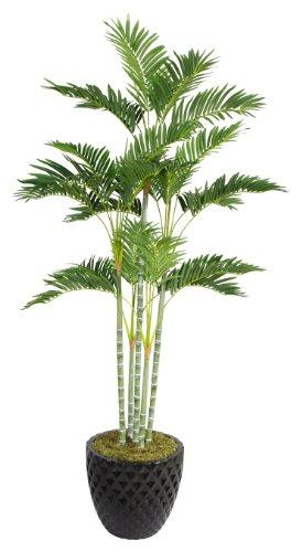Laura Ashley VHX113205 74-Inch Palm Tree in 16-Inch Fiber Stone Planter