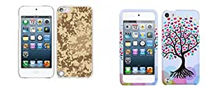 Combo pack Cellet White Proguard Case with Camouflage For Apple iPod Touch 5th Generation And MYBAT Love Tree Phone Protector Cover for APPLE iPod touch (5th generation)