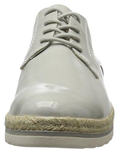 Marco 242 Patent Cordones Oxford Tozzi De Gris 23713 grey Mujer Para Zapatos Crq4wPCU