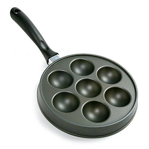 Abelskiver Pan, Nonstick Cast Aluminum Danish Aebleskiver St