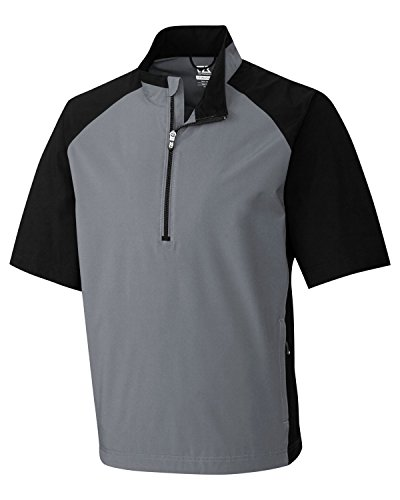 Cutter & Buck MCO00948 Men's CB Weathertec S/S Summit Half Zip Gravel Large (Rain Golf Pullover)