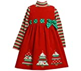 Bonnie Jean Collection Girls Christmas Tree Holiday Dress 6-9 months