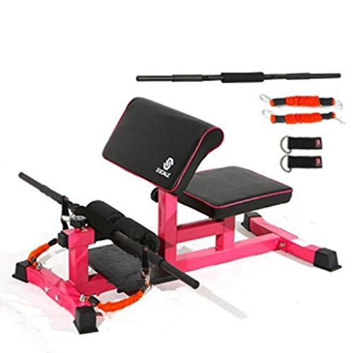 H-TRAINING スクワット Muscle Training Squat Machine Lunge Deadlift Push up Fitness Home training Grand squat Biceps workout(海外直送品)  RED B07C13X8VG