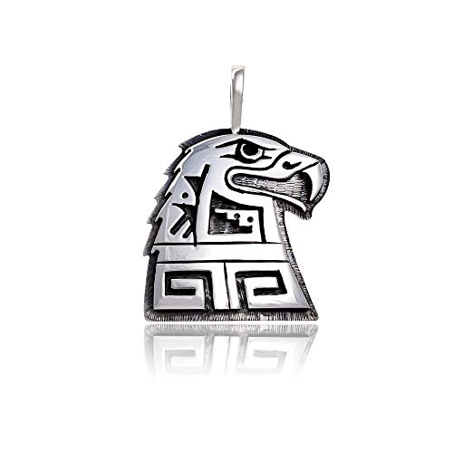 Eagle .925 Sterling Silver Certified Authentic Handmade Hopi Native American Pendant