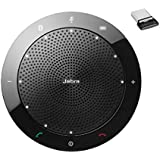 Jabra Speak 510 MS Wireless Bluetooth Speaker for Softphone and Mobile Phone – Link 370 USB Included – Easy Setup, Portable Speaker for Holding Meetings Anywhere with Outstanding Sound Quality (7510-309), Black