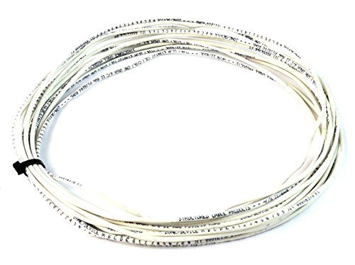 50' ft 22 Gauge 2 Conductor Stranded Security Alarm Wire Cable White