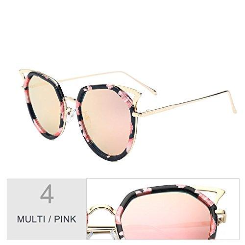 Multi Metálico Hombres Bastidor Vintage De Mujeres Claro Sol Polarizadas Ojo Pink Gafas De Gato Para Oculos TIANLIANG04 Plata q7fnzaR