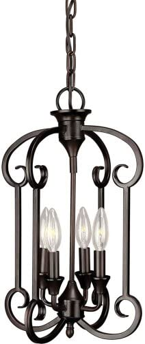 Forte Lighting 7000-04 Foyer Pendant, Antique Bronze