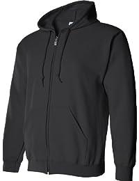 Gildan Adult Heavy Blend Full-Zip Hooded Sweatshirt (Black) (Medium)