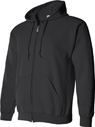 Gildan - Sudadera con cremallera y capucha Modelo Blend Unisex - Deporte/Gimnasio/Running Gris oscuro