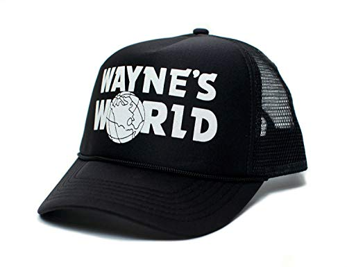 Posse Comitatus Wayne's World Printed Unisex Adult Truckers Hat Cap Black Solid