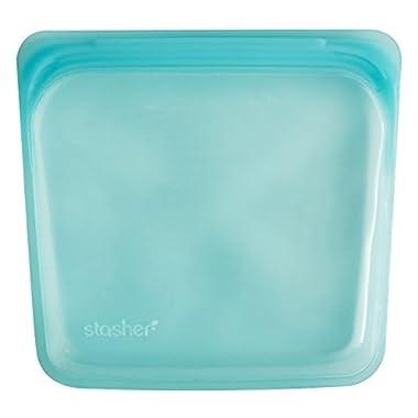 Stasher Reusable Silicone Food Bag, Aqua
