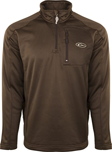 Drake Breathlite 1/4 Zip Brown Jacket, X-Large