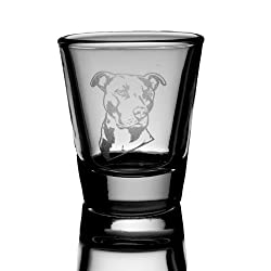 Pit bull Shot Glass