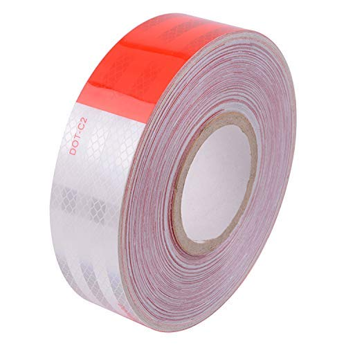 """DOT-C2 2""""Inch X 150'Feet Red/White Reflective Tape - for Vehicles,Trailers,Boats,Signs"""