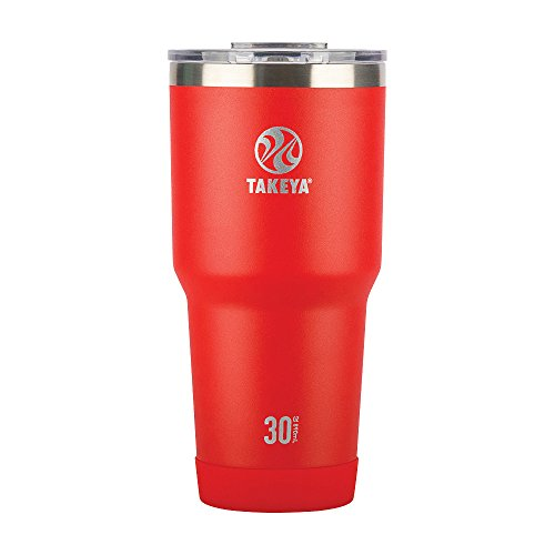 Takeya Actives Insulated Stainless Tumbler with Flip Lid, 30oz, Fire by Takeya
