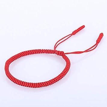 LEIGAGA Pulsera de Cuerda de Nudos Hechos a Mano Budista Tibetano Lucky Charm Pulseras y brazaletes tibetanos para Mujeres Hombres Regalo1