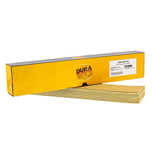 20 Lijas Longboard Dura-Gold 7cm x 42cm Grano 40