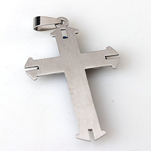 Unique En Fleur Motif Tibétain Breloques Feuille Catholique Pendentif Croix Bleu Collier Argent Cristal Diy Homiki zEqwSPxfzg