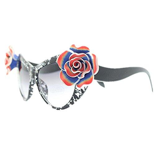 Ultra Flower Protection Wenjack Soleil Polymer Sunglasses Clay Lunettes de de légères UV Soleil la pour à l'été Plage Lunettes Femmes Personnalité Main Yeux Les Cat Lady's BBqEv